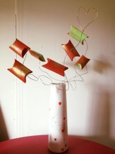 Le vase cadeaux coeurs